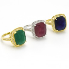 RING CZ WITH COLOR STONE RM5888