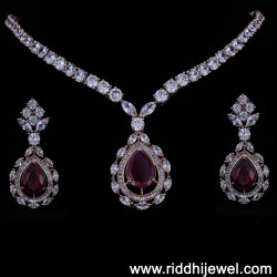 SET CZ WITH RED GEM STONE SM7812